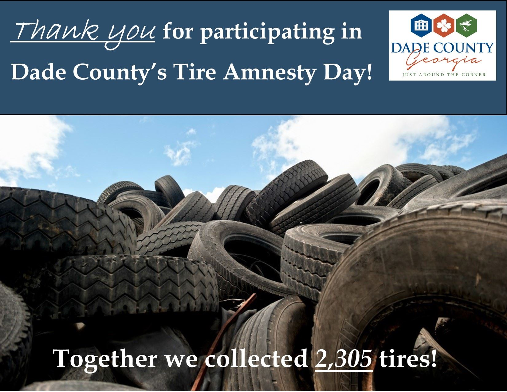 Thank you Tire Amnesty Day 2,305 tires!